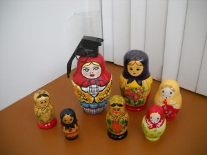 All the matryoshka dolls together
