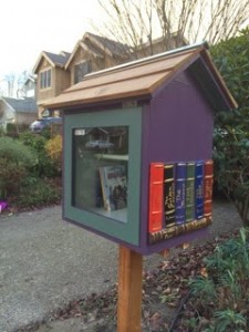 The Izzo family's Little Free Library at 4742 48th Avenue NE