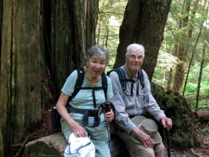 Don and Goldie resting on the trail to Lake 2. Photos by Jon Ostrow